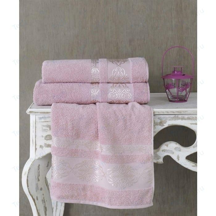 Полотенце Karna Rebeka 70x140 см грязно-розовый (2658/CHAR005) полотенце karna rebeka 70x140 см кофейный 2658 char008