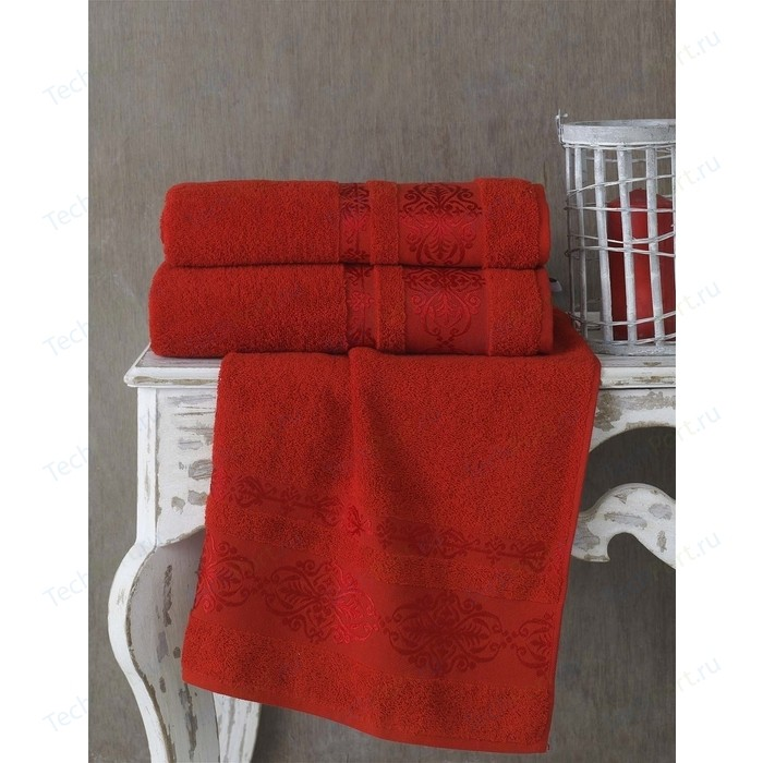 Полотенце Karna Rebeka 70x140 см красный (2658/CHAR009)
