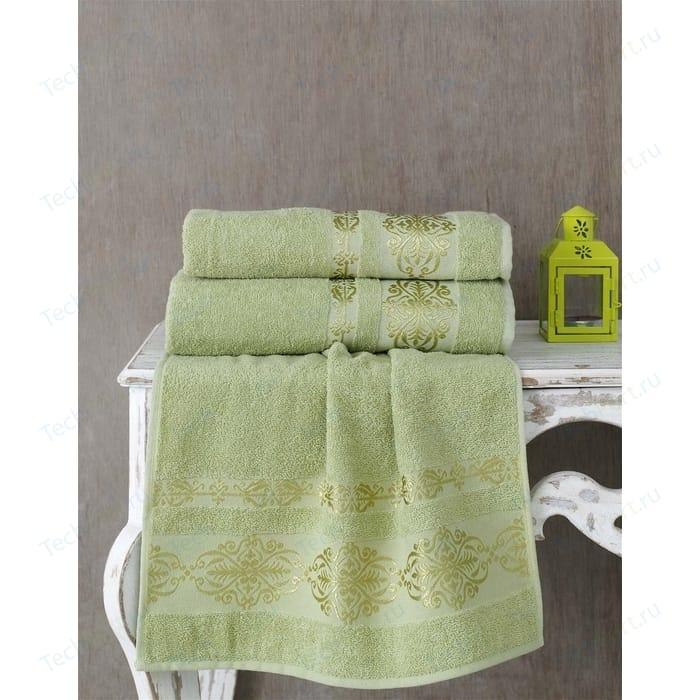 Полотенце Karna Rebeka 70x140 см темно-зеленый (2658/CHAR018) имидж мастер скамья для ожидания стрит 33 цвета темно зеленый 6127