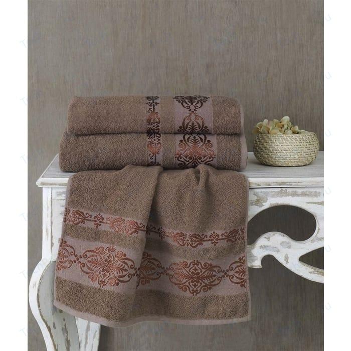 Полотенце Karna Rebeka 70x140 см коричневый (2658/CHAR007)