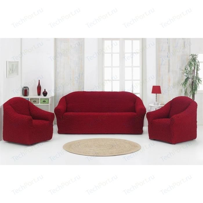 Набор чехлов для мягкой мебели 3 предмета Karna бордовый (1780 /CHAR002)