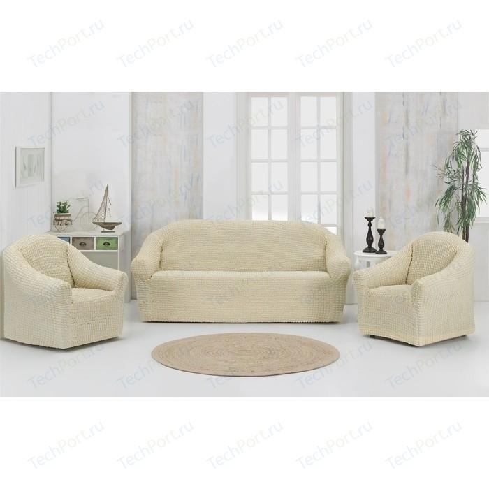 Набор чехлов для мягкой мебели 3 предмета Karna кремовый (1780 /CHAR008)