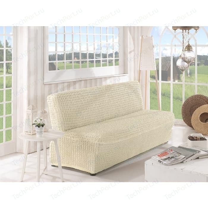 Фото - Чехол для двухместного дивана без подлокотников Karna кремовый (2649/CHAR005) чехол для двухместного дивана первый мебельный чехол для дивана стамбул двухместный без юбки