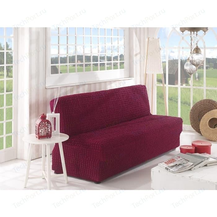 Чехол для двухместного дивана без подлокотников Karna бордовый (2649/CHAR002)