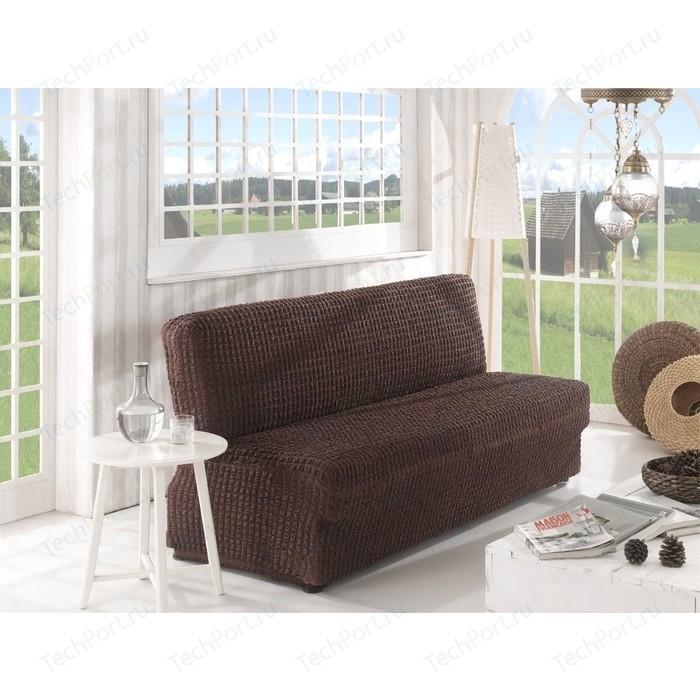 Чехол для двухместного дивана без подлокотников Karna коричневый (2649/CHAR003)