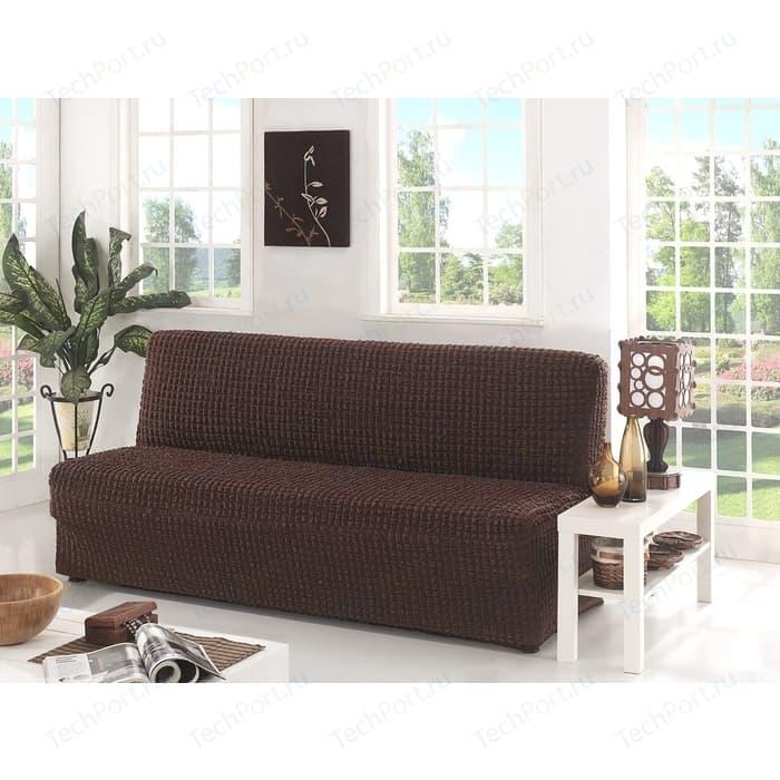 Фото - Чехол для двухместного дивана без подлокотников Karna коричневый (2650/CHAR003) чехол для двухместного дивана первый мебельный чехол для дивана стамбул двухместный без юбки