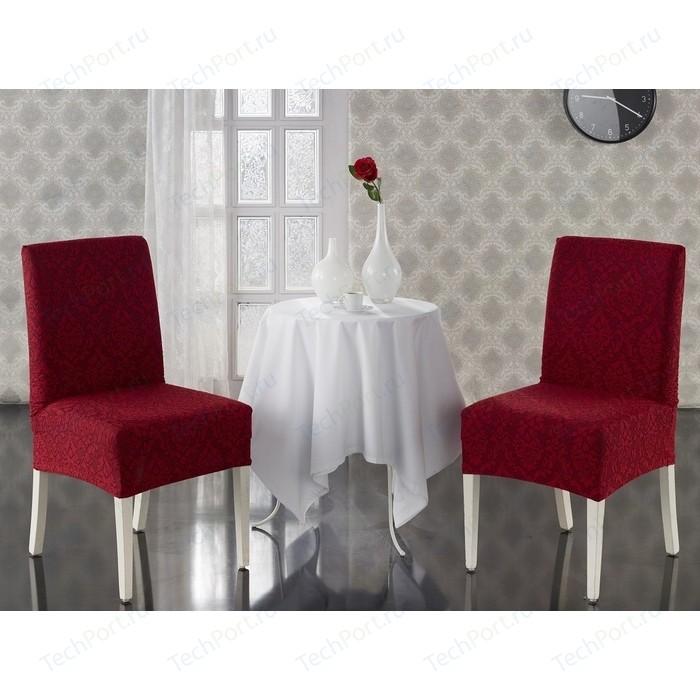 Чехлы на стулья 2 штуки Karna Milano бордовый (2911/CHAR003)