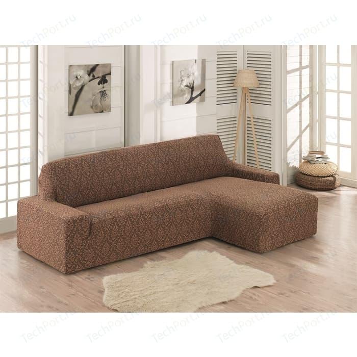 Чехол на диван угловой правосторонний Karna Milano коричневый (2912/CHAR002)