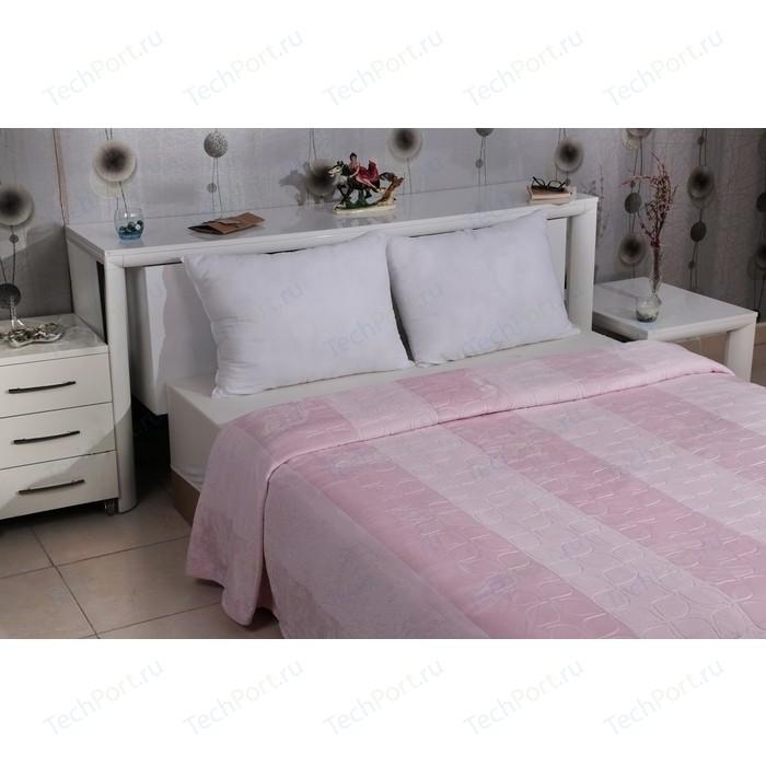 Плед Karna вельсофт жаккард Palma 220x240 см розовый (5094/CHAR004)