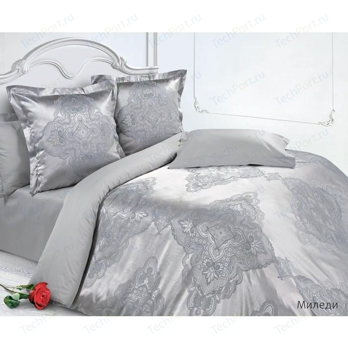 цена Комплект постельного белья Ecotex Евро, сатин-жаккард, Миледи (4650074952468) онлайн в 2017 году