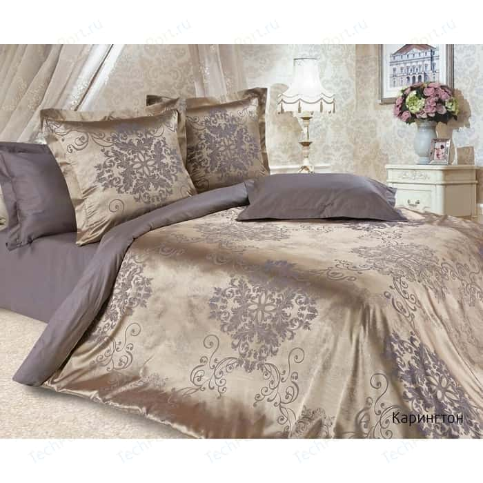 Комплект постельного белья Ecotex Семейный, сатин-жаккард, Карингтон (4680017866996)