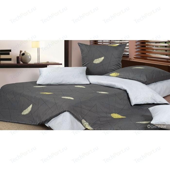 Комплект постельного белья Ecotex Евро, сатин, Фонтейн (4650074954561)