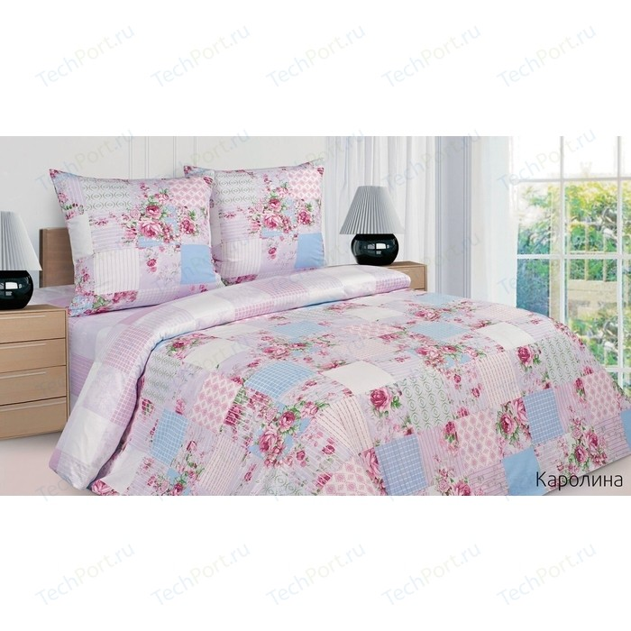 Комплект постельного белья Ecotex Евро, поплин, Каролина (4650074954950)
