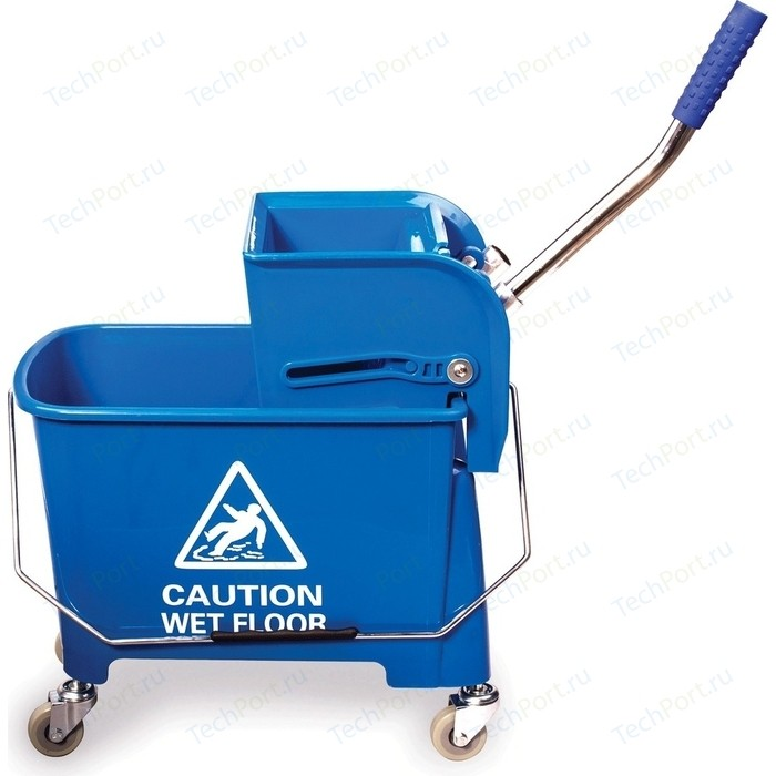 Тележка уборочная-ведро Лайма Проф 20л механический отжим синяя 601497