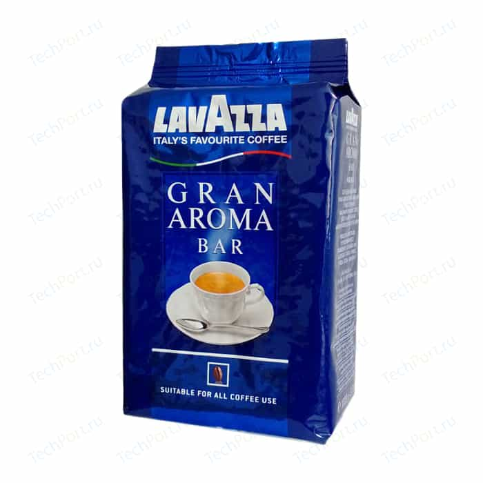 Кофе в зернах Lavazza Gran Aroma Bar 1000 beans, вакуумная упаковка, 1000гр