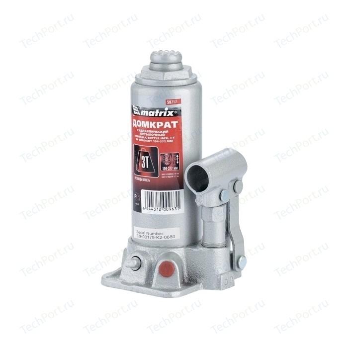 Домкрат гидравлический бутылочный Matrix 3т 194-372мм Master (50717)