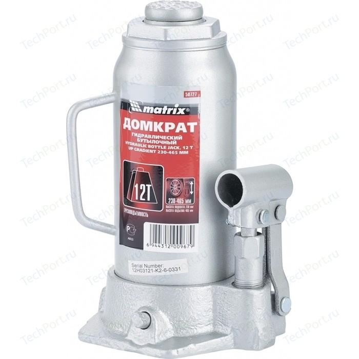 Домкрат гидравлический бутылочный Matrix 12т 230-465мм Master (50727)