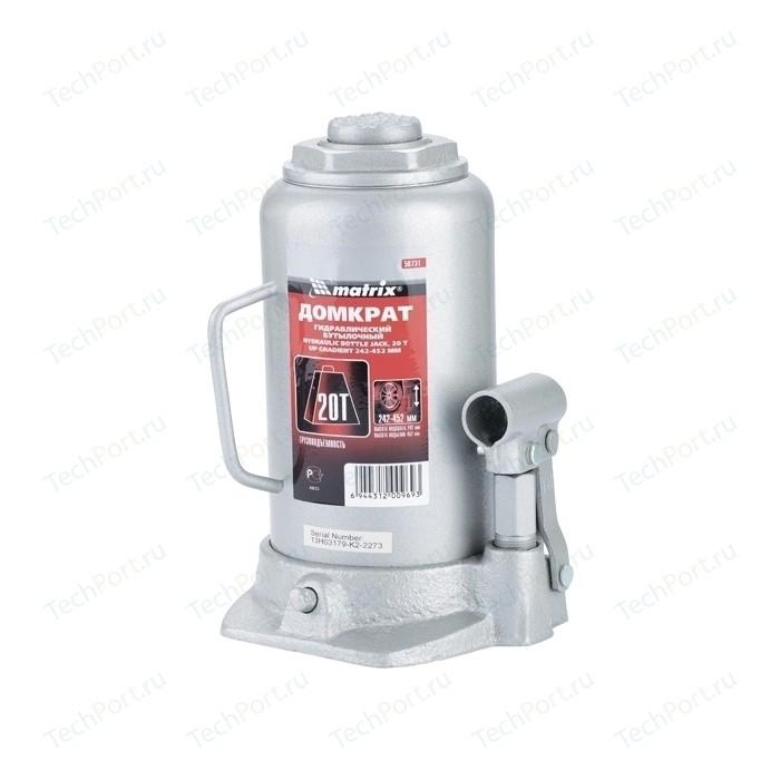 Домкрат гидравлический бутылочный Matrix 20т 242-452мм Master (50731)