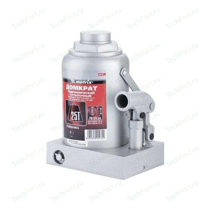 Домкрат гидравлический бутылочный Matrix 25т 240-375мм Master (50733)