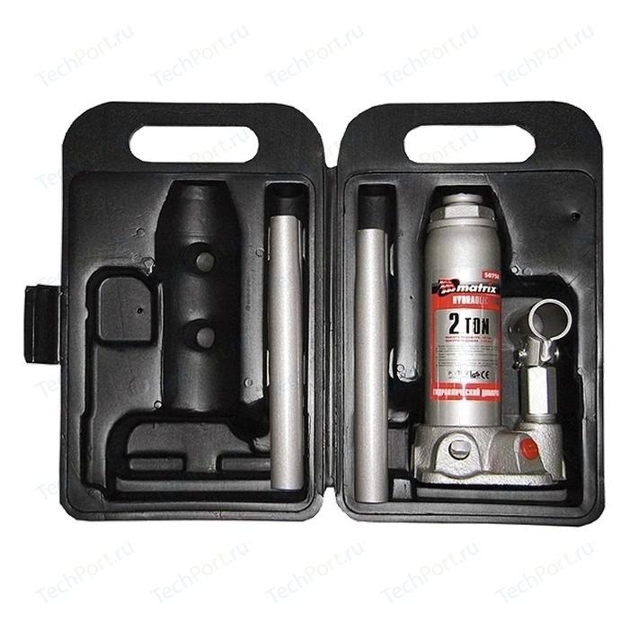 Домкрат гидравлический бутылочный Matrix 2т 181-345мм Master (50750)