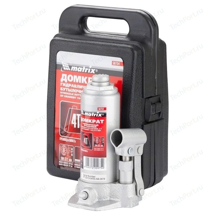 Домкрат гидравлический бутылочный Matrix 4т 194-372мм Master (50754)
