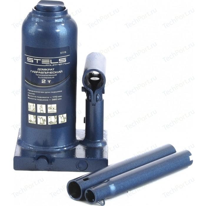 Домкрат гидравлический бутылочный телескопический Stels 2т 170-380мм (51115)