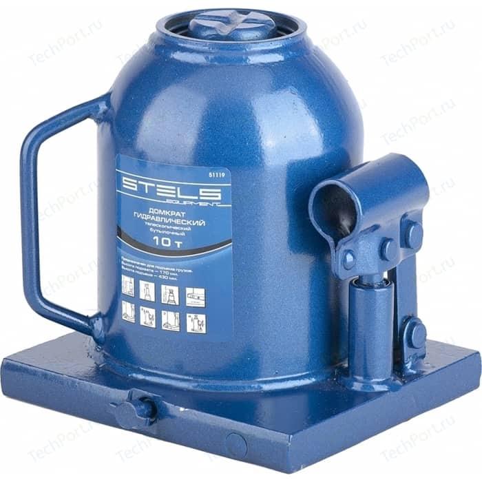 Домкрат гидравлический бутылочный телескопический Stels 10т 170-430мм (51119)