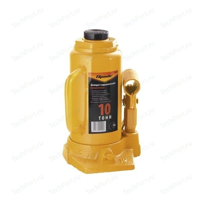 Домкрат гидравлический бутылочный SPARTA 10т 200-385мм (50325) домкрат гидравлический бутылочный sparta телескопический 10т 50345