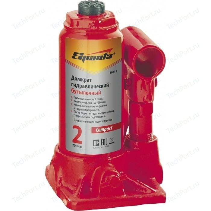 Домкрат гидравлический бутылочный SPARTA 10т 190-370мм Compact (50335)
