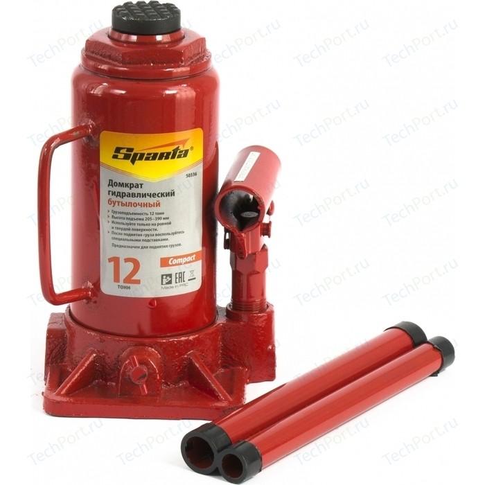 Домкрат гидравлический бутылочный SPARTA 12т 205-400мм Compact (50336)