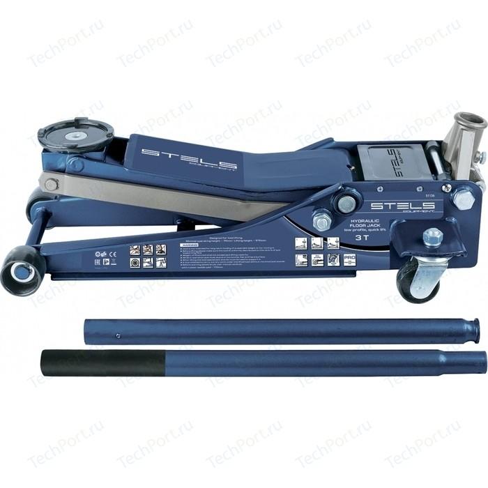 Домкрат подкатной гидравлический Stels 3т 75-515мм Low Profile Quick Lift (51136)
