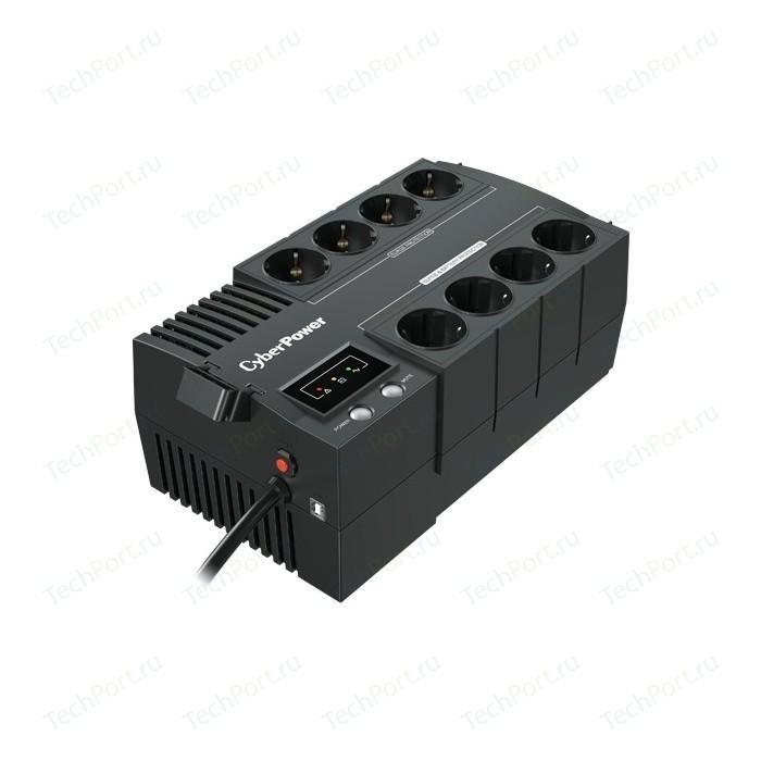 ИБП CyberPower BS650E 650VA/390W USB (4+4 EURO) ибп cyberpower ut650eig line interactive 650va 360w usb rj11 45 4 iec с13
