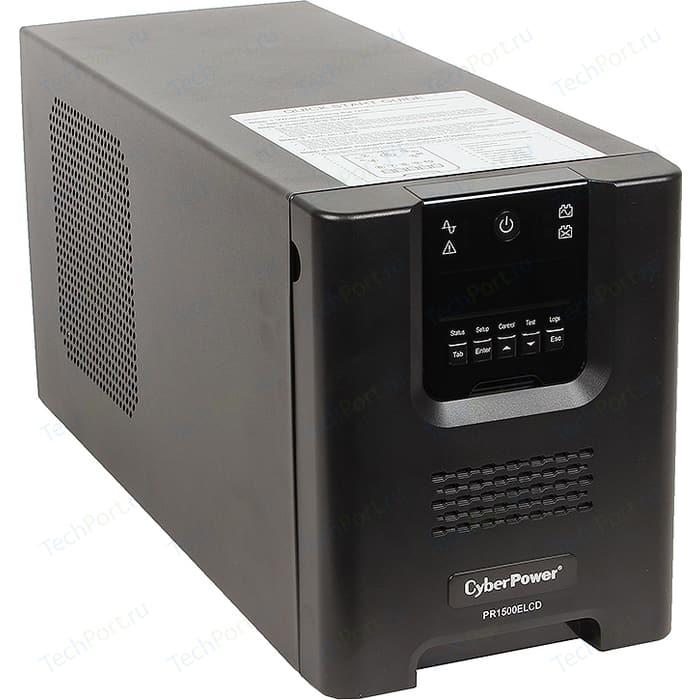 ИБП CyberPower PR1500ELCD 1500VA/1350W USB/RS-232/EPO/SNMPslot/RJ11/45 (8 IEC)