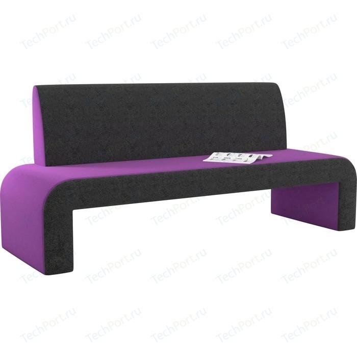 Кухонный диван АртМебель Кармен микровельвет фиолетово-черный