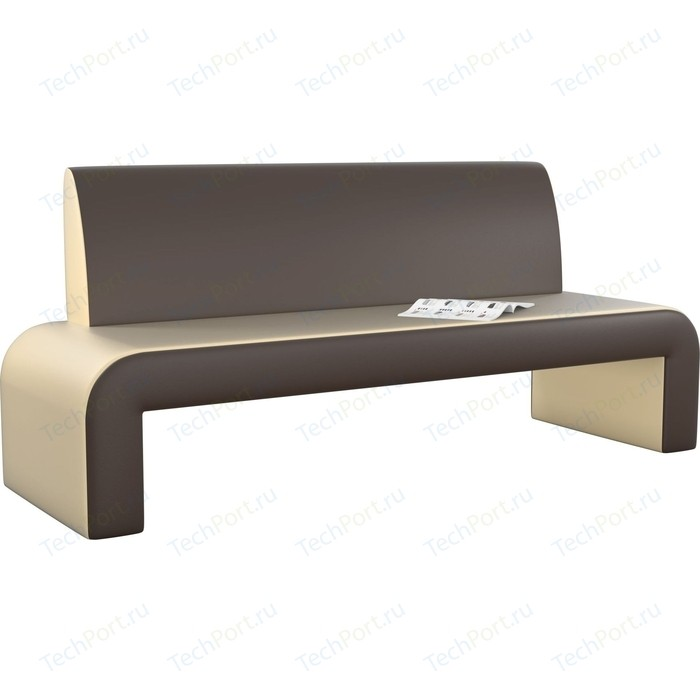 Кухонный диван Мебелико Кармен эко-кожа бежево-коричневый