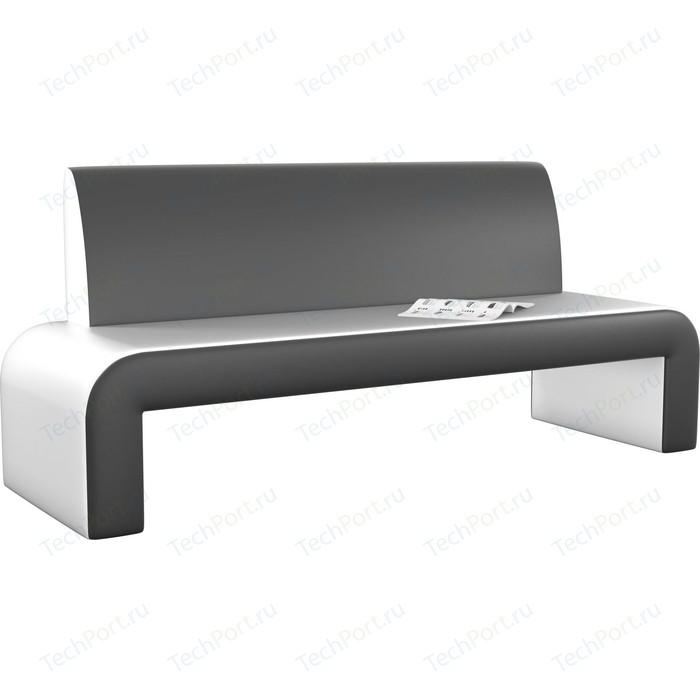 Кухонный диван Мебелико Кармен эко-кожа бело-черный