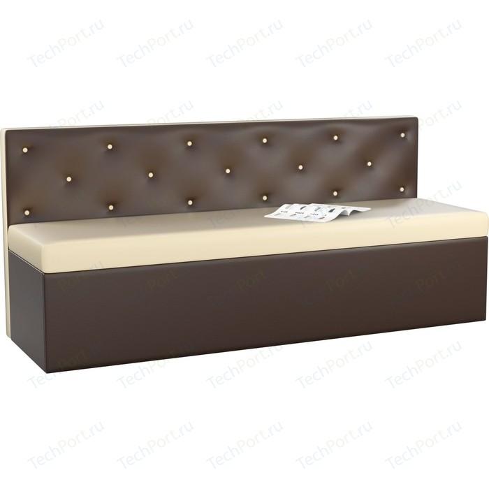 Кухонный диван АртМебель Салвадор эко-кожа бежево-коричневый