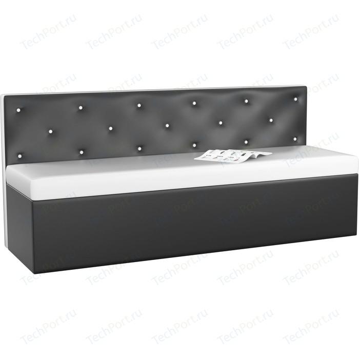Кухонный диван Мебелико Салвадор эко-кожа бело-черный