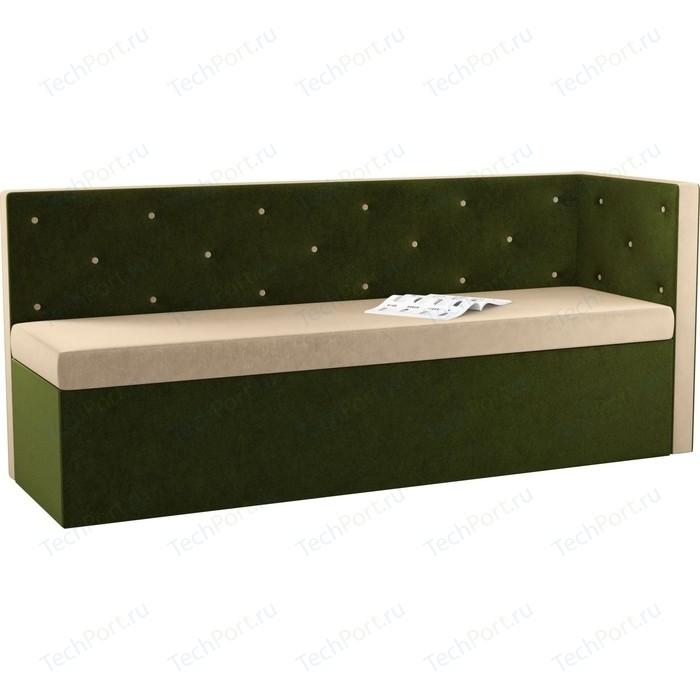 Фото - Кухонный угловой диван Мебелико Салвадор микровельвет бежево-зеленый правый угол кухонный угловой диван мебелико салвадор микровельвет бежево коричневый правый угол