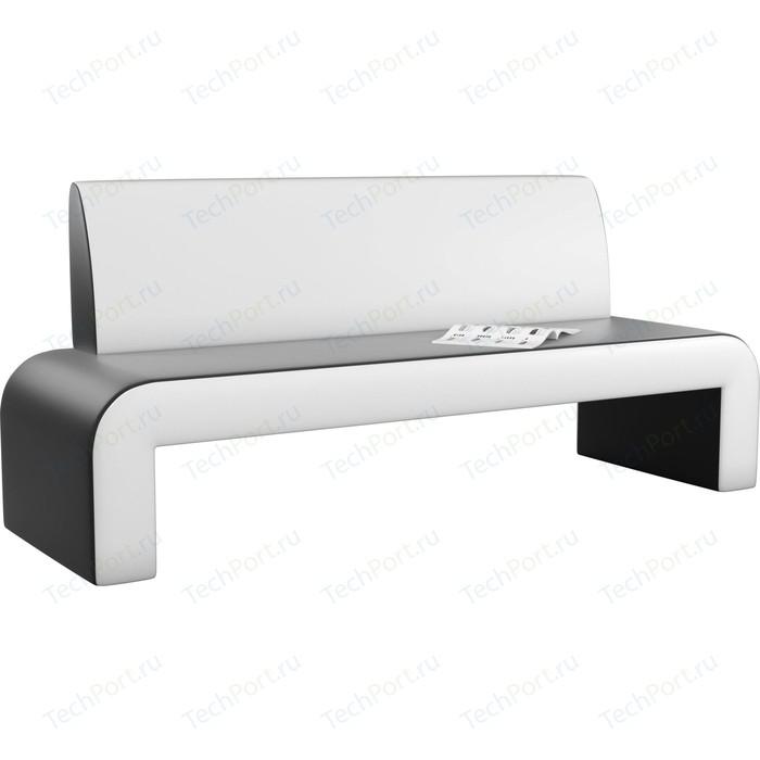 Кухонный диван Мебелико Кармен эко-кожа черно/белый