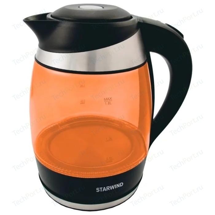 Чайник электрический StarWind SKG2212 оранжевый/черный чайник электрический starwind skg2212 оранжевый черный