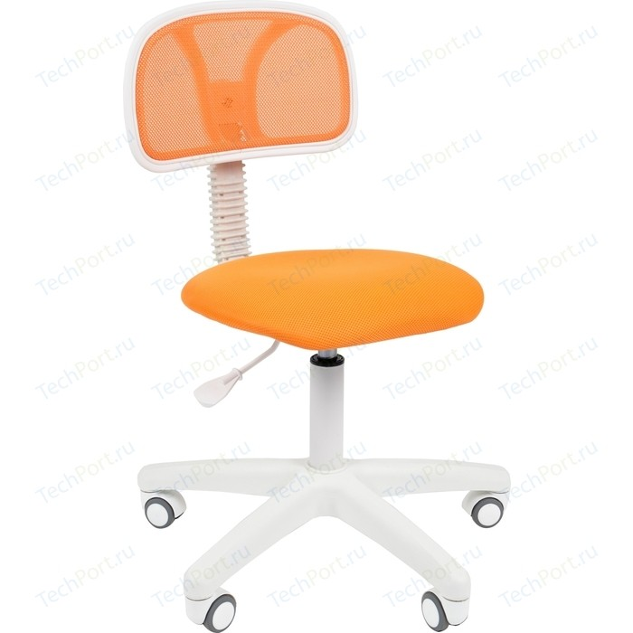 Офисноекресло Chairman 250 белый пластик TW-16/TW-66 оранжевый