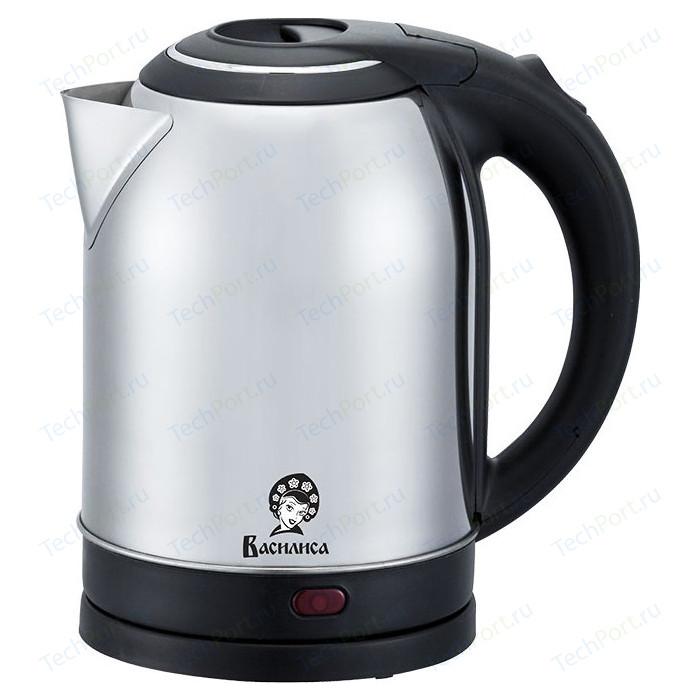 Чайник электрический ВАСИЛИСА Т31-2000 нержавейка/черный