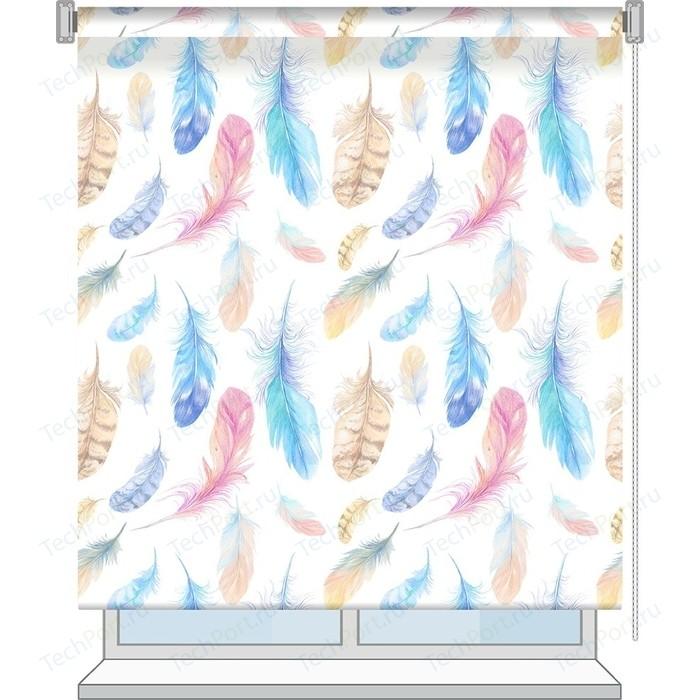 Рулонная штора Волшебная ночь 140x175 Стиль Этно Рисунок Fluff
