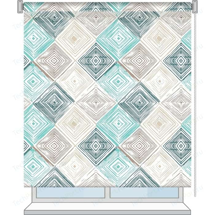 Рулонная штора Волшебная ночь 100x175 Стиль Лофт Рисунок Geometric