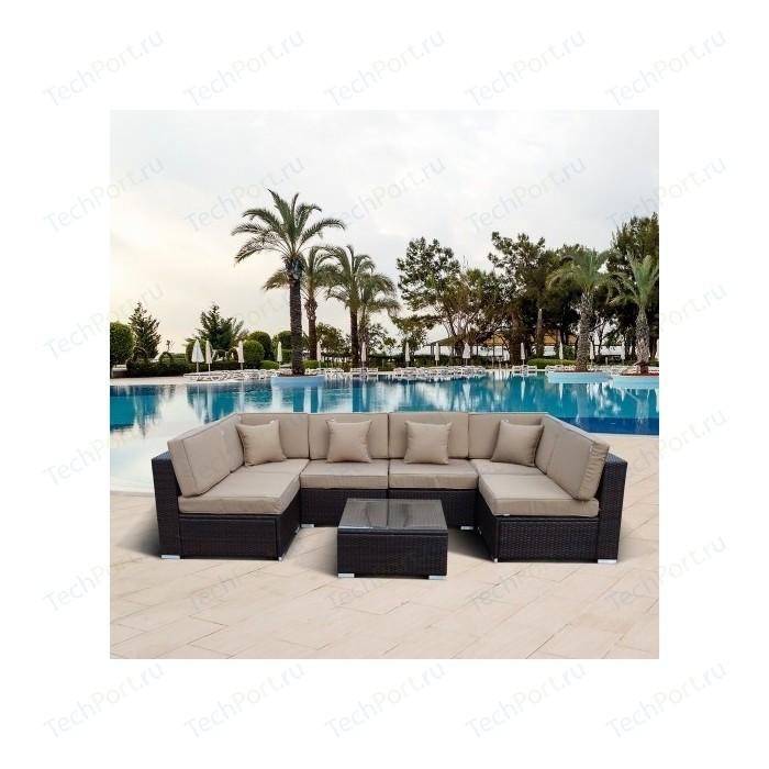 Комплект мебели из искусственного ротанга Afina garden YR822-W53 old brown
