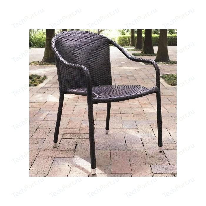 Кресло из искусственного ротанга Afina garden AFM-318A-brown