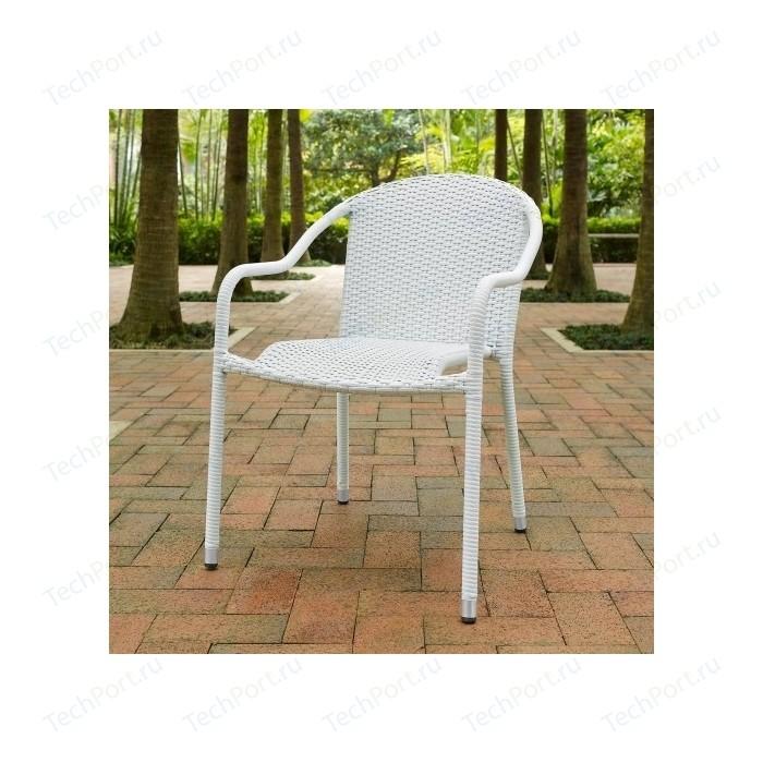 Кресло из искусственного ротанга Afina garden AFM-318G-light grey