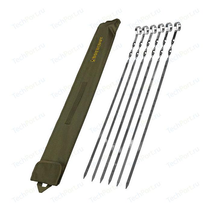 Набор плоских шампуров Boyscout 60 см 6 шт в чехле (61329)