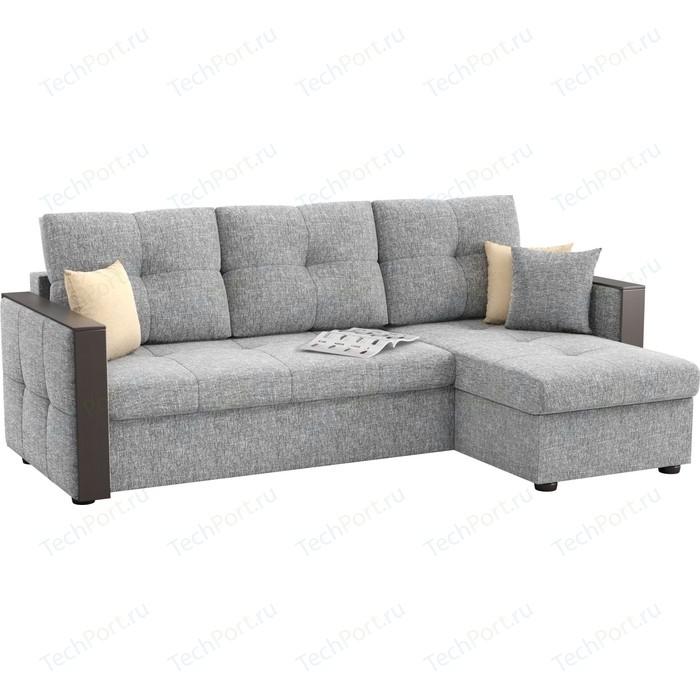Фото - Угловой диван АртМебель Валенсия рогожка серый правый угол диван артмебель валенсия рогожка серый п образный